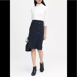 Banana Republic Double-Button Pencil Skirt